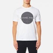 Michael Kors Men's Wave Circle Logo T-Shirt - White - XXL - White