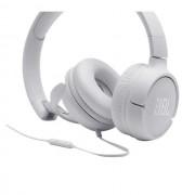 HEADPHONES, JBL T500, Microphone, White (JBLT500WHT)