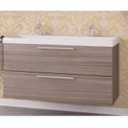 Kolpa san Jolie OUJ 120/2 szekrény dupla mosóval - uszadékfa elõlap/uszadékfa oldallap