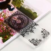 Para Nokia 7 Plus Black Totem Patrón Claro TPU Suave Aceite En Relieve Nuevo Estuche Protector
