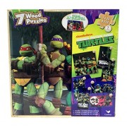 Nickelodeon Teenage Mutant Ninja Turtles 7 Wood Puzzles, Storage Box