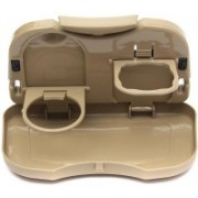 MK Multifunction Folding Car Back Seat Drink Food Cup Tray Holder(Beige)