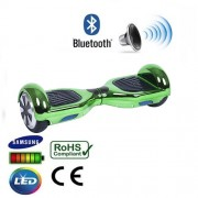 """6.5"""" Green Chrome Bluetooth Segway Hoverboard"""