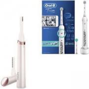 Комплект Дамски тример тип писалка за корекции за лице и тяло Philips HP6393/00 + Електрическа четка за зъби Oral-B Teen, Bluetooth, 2 глави