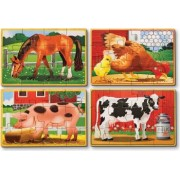 Set 4 puzzle lemn in cutie Animale domestice Melissa and Doug