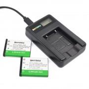 2 Pak 1200 mAh LI-42B Li-40B LI42B Li 42B 40B Camera batterijen & USB LCD Lader voor OLYMPUS U700 U710 FE230 FE340 FE290 FE360