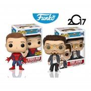 Set 2 Piezas Tony Stark Y Spider Man Hot Topic Exclusive Homecoming Funko Pop Pelicula Marvel Envio Gratis