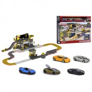 Pista de masini Majorette Creatix Lamborghini Race cu 5 masinute