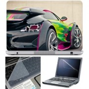 Finearts Laptop Skin - Side Card Color With Screen Guard And Key Protector - Size 15.6 Inch