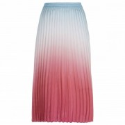 Seafolly - Ombre Shore Pleated Skirt - Jupe taille L, rose/gris/rouge