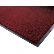 Schmutzfangmatte für innen, Flor aus Polypropylen LxB 1200 x 900 mm schwarz / rot