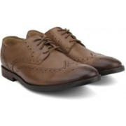 Clarks Broyd Limit Tan Leather Lace Up For Men(Brown)