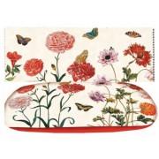 FRI.12551Szemüvegtok textil bevonatú, törlőkendővel, 16x4x6,5cm, maria Sibylla Merian