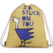 Trunkit Printed Casual Drawstring Bag Waterproof Backpack(Yellow, Blue, Black, 5 L)
