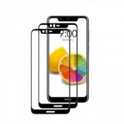 Set 2 folii protectie sticla securizata fullsize pentru Nokia 5.1 Plus / X5 negru