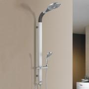 [neu.haus]® Set de ducha moderno (set completo) soporte de pared con 2 cabezales de ducha -Ducha de lluvia y ducha de mano