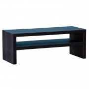Moc Croc Black Embossed TV Unit/Coffee Table with Low Shelf