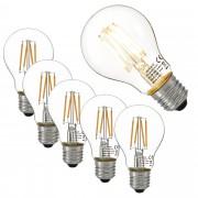 [lux.pro]® 5 x bombillas LED E27 de filamento blanco cálido 2700K luz 350lm 3W