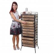 Apotheker-Schrank HWC-A43, Tanne Holz massiv Vintage Shabby-Look 129x55x38cm ~ Variantenangebot