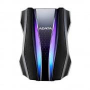 """ADATA Durable HD770 HDD Extern 1TB 2.5"""" USB 3.2 Gen 1 RGB Negru"""