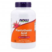 Now Foods Witamina B5 (Kwas pantotenowy) 500 mg 250 kapsułek - 250 kapsułek