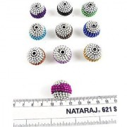 eshoppee handmade Designer lakh beads with ball chain decorated set of 10 pcs for jewellery making and home decoration