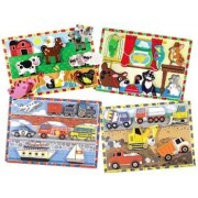 Wood Chunky Scene Puzzles For Kids Set Of 4