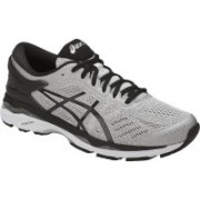 Asics GEL - KAYANO 24 (2E) - SILVER/BLACK/MID GREY Running Shoes For Men(Grey)
