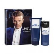 David Beckham Classic Blue Gift Set: Deo Spray 150ml+SG 200ml