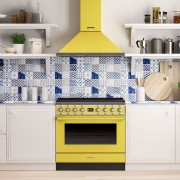 Smeg CPF9GPYW Cocina Portofino Amarilla con Encimera a Gas y Horno Eléctrico Pirolítico A+ ¡Envío Gratis!