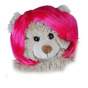 "Short Bob Pink Wig Fits Most 14"" 18"" Build A Bear, Vermont Teddy Bears, And Make Your Own Stuffed Animals"