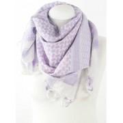Arafat shawl lila wit
