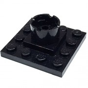 Lego Parts: Boat Mast Section Base 4 x 4 x 1 2/3 (Black)