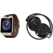 Mirza DZ09 Smart Watch and Mini 503 Bluetooth Headphone for LG OPTIMUS L9 II(DZ09 Smart Watch With 4G Sim Card Memory Card  Mini 503 Bluetooth Headphone)