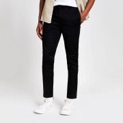 River Island Mens Black side tape skinny trousers (34R)