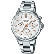Casio Sheen Analog White Dial Womens Watch - She-3047D-7Audr (Sx166)