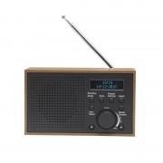 Denver Retroradio mit Weckfunktion in Holzoptik Dab-46- weiß