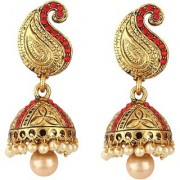 Jewels Gold Antique Gold Plated Contemporary Fashion Designer Jhumki Jhumka Earring Set For Women Girls