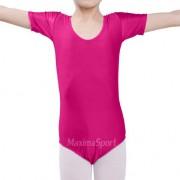 Гимнастическо трико с къс ръкав за деца