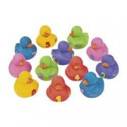 Rubber Ducks Educational Products - 12 pc 1-2-3 Counting Learning to Count Rubber Duckie Ducky Ducks
