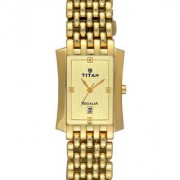 Titan Quartz Gold Rectangle Men Watch 1927YM05