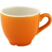 Churchill New Horizons Colour Glaze Espresso Cups Orange 85ml (Pack of 24)