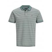 Jack and Jones Jprbluwin Polo Ss Stripe - groen - Size: Large