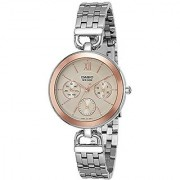 Casio Enticer Ladies Analog Rose Gold Dial Womens Watch-Ltp-E406D-9Avdf