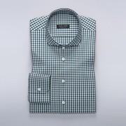 Tailor Store Rutig businesskjorta i navy och grön