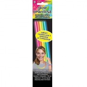 Amscan Groovy Neon Doodle Glow Sticks Birthday Party Favors (5 Pack) 8 Multicolor