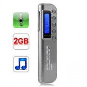 Digital Dictaphone 2 GB - MP3-spelare och USB-kontakt