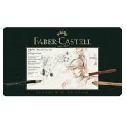 Set Pitt Monochrome Grafit+Carbune+Pastel 33 Buc. Faber-Castell