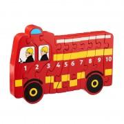 Lanka Kade Puzzle Camion de Pompier 1-10 en bois Lanka Kade