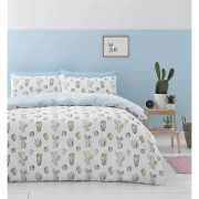 Catherine Lansfield Cactus Duvet Set - Green - Double - Green